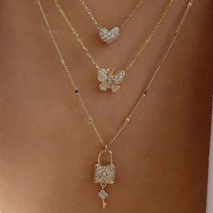 Gold Layered Charm Necklace